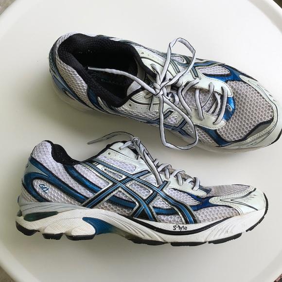 Details about Asics GT 2150 Women's Running Shoes T057N(2A) US Size 9.5 Aqua Blue & Silver EUC